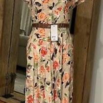 Authentic Philosophy Di Alberta Ferretti Silk Floral Print Dress M/it42 Photo