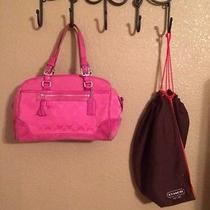 Authentic Pink Coach Purse- No Reserve Item B46 Photo