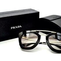 Authentic Prada Brand New Women Sunglasses 09q 09qs 1ab 0a7 Black/gold Gradient Photo