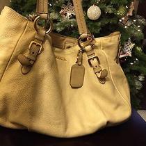 Authentic Prada Calf Handbag Beige Original Bag Original  Pebbled Deerskin Photo