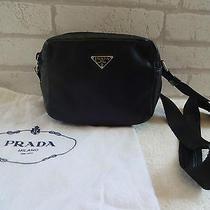 Authentic Prada Camera Bag B6130 in Tessuto Mignon Leather in Black Nero  Photo