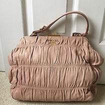 Authentic Prada Dressy Gaufre Pink Blush Leather Bag Photo