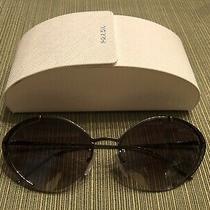 Authentic Prada Gunmetal W/ Gradient Grey Womens Sunglasses Spr60u 5av-5o0 Photo