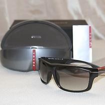 Authentic Prada Linea Rossa Ps 01ns Sunglasses Black Gradient Red Made in Italy Photo
