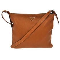 Authentic Prada Logos Shoulder Tote Bag Brown Gold Leather Italy Vintage Nr02938 Photo