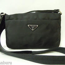 Authentic Prada Milano Black Nylon Shoulder Bag Cross Body Purse Photo