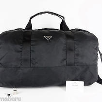 Authentic Prada Milano Black Nylon Shoulder Bag Travel Bag Purse Photo