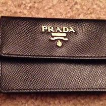 Authentic Prada New Saffiano Leather Credit Card Holder Case Mini Wallet Gift It Photo