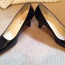 Authentic Prada Shoes 38 1/2   595.00  Black 8 1/2  Heels Photo
