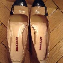 Authentic Prada Shoes Flats Limited Edition Sz 37 Retail 375 Logo Wedge Photo
