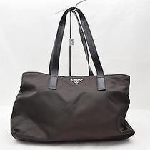Authentic Prada Tote Bag  Browns Nylon 61380 Photo