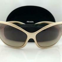 Authentic Prada Woman's Sunglasses Spr04f 3bq-6s1 Gold Frames Photo