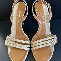 Authentic Pre-Owned Louis Vuitton Monogram Canvas Sandals Size 37 Photo