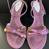 Authentic Pre-Owned Louis Vuitton Pink Patent Leather Sandals Size 37 Photo