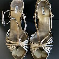 Authentic Pre-Owned Miu Miu Rhinestone Heels Size 37 Photo