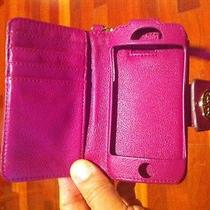 Authentic Purple Tory Burch Iphone 5 Leather Wristlet   Photo