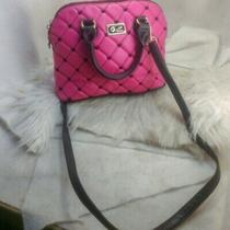 Authentic Quilted Betsey Johnson Purse Handbag Pink Crossbody Photo