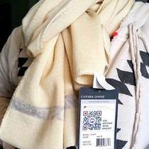 Authentic Rare Canada Goose Scarf 100% Merino Wool Cream White New With Tags Photo