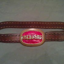 Authentic Rare Dsquared Leather Belt  Photo