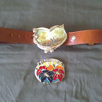 Authentic Rare Dsquared Leather Belt With 2 Buckles Photo