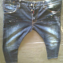 Authentic Rare Dsquared Painted Kenny Jeans S74la0545 tag.48 Photo