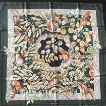 Authentic Rare Hermes Silk Scarf Casse Noisette Antoine De Jacquelot 90x90cm Photo