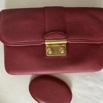 Authentic Rare Louis Vuitton  Sofia Coppola Slim Clutch Bag Red Leather Photo