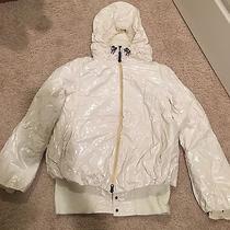 Authentic Rare Unique White Moncler(1950) Parka Jacket Coat M Medium Hood Photo
