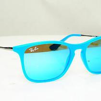 Authentic Ray-Ban Child Boys Girls Mirror Sunglasses Blue Rj 9061 7011/55 30754 Photo