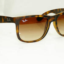Authentic Ray-Ban Mens Sunglasses Justin Havana Brown Rb 4165 710/13 32112 Photo