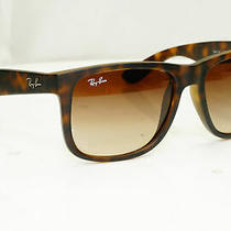 Authentic Ray-Ban Mens Sunglasses Justin Havana Brown Rb 4165 710/13 32103 Photo