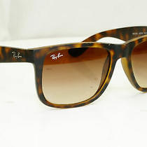 Authentic Ray-Ban Mens Sunglasses Justin Havana Brown Rb 4165 710/13 32122 Photo