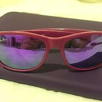 Authentic Rayban Andy Violet/violet Mirror Rb4202 60714v 55 145 Photo