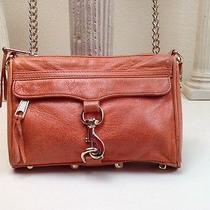 Authentic Rebecca Minkoff Persimmon Orange Mac Small Leather Shoulder Chain Bag Photo