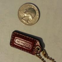 Authentic Red Leather Coach Hang Tag/keychain Photo