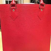 Authentic Red Louis Vuitton Epi Sac Plat Pm-- Gorgeous Photo