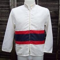 Authentic Retro American Jacket Small White Photo