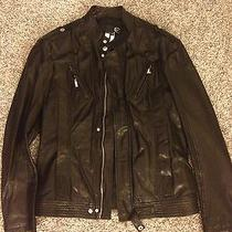 Authentic Roberto Cavalli Men's Leather Jacket. Size 52. Brand New. Photo