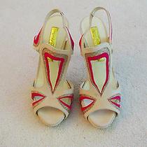 Authentic Rupert Sanderson Platform Sandals in Blush & Fushia - Size 36.5 / 6.5 Photo