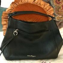Authentic Salvatore Ferragamo.  Ally Handbag Black Photo