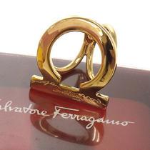 Authentic Salvatore Ferragamo Ganchini Scarf Ring Gold-Tone Italy Jt00354a Photo