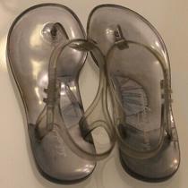 Authentic Salvatore Ferragamo Italy Jelly Thong Sandals Flats Sz 9.5 Womans Photo