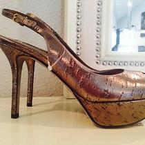 Authentic Sergio Rossi Painted Cork Slingback New 38.5 8 8.5 Photo