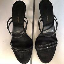Authentic St. John Strapy Kitten Heel Black Shoes Size 6 1/2 Photo