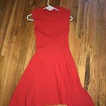 Authentic Stella Mccartney Red Dress 40 Open Back Photo
