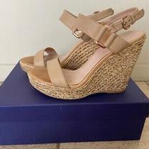 Authentic Stuart Weitzman Blush Pink Nude Platform Wedge Sandal Size 8 Photo