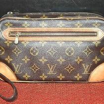 Authentic Stylish Classic Louis Vuitton Monogram Marly Clutch/wristlet Bag Photo