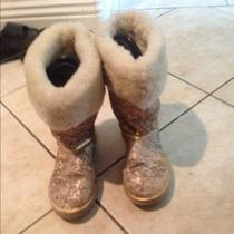 Authentic Tan/golden Coach Boots W/ Fur Photo