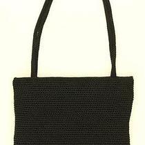 Authentic the Sak Large Black Crochet Knit Shoulder Bag / Tote Photo