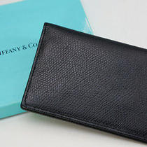 Authentic Tiffany & Co. Card Case Leather Black 534f27 Photo